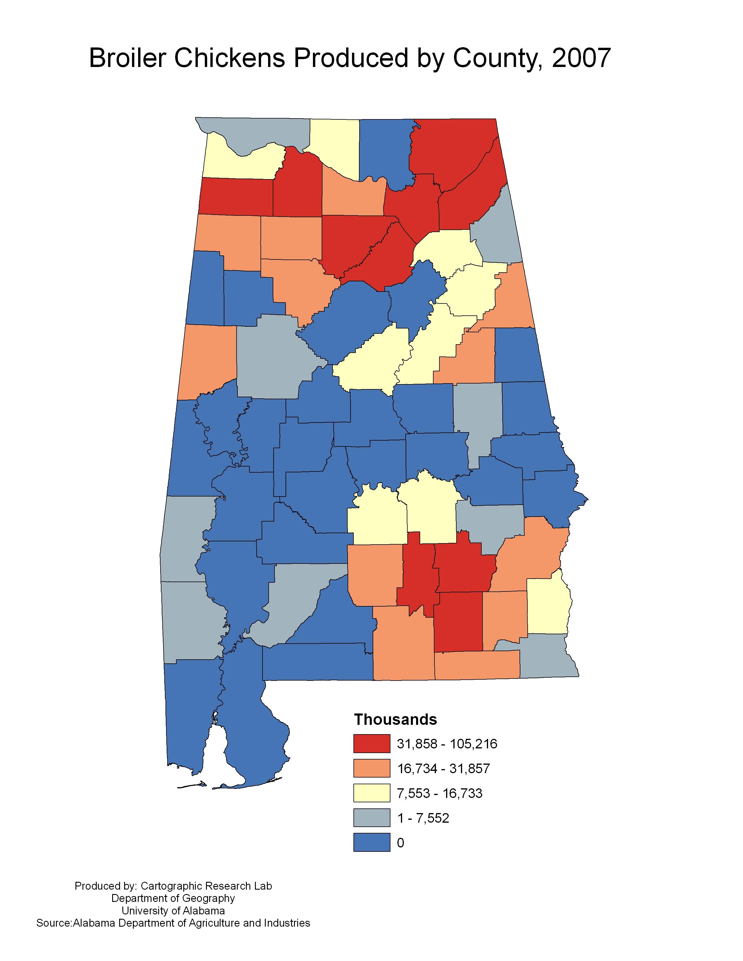 Alabama Maps  Agriculture