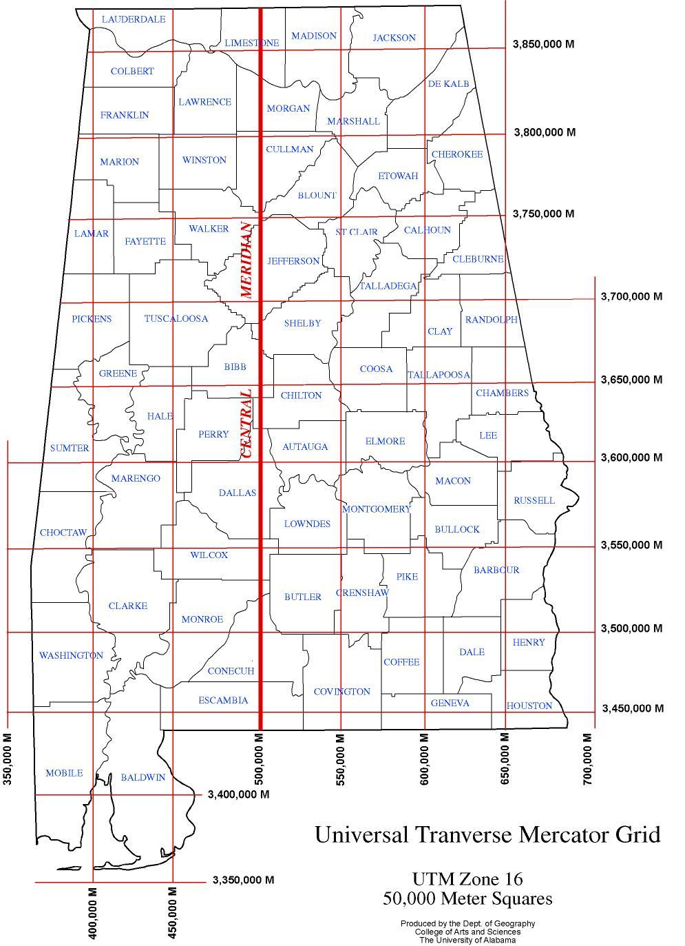 Alabama maps basemaps universal transverse ccuart Gallery