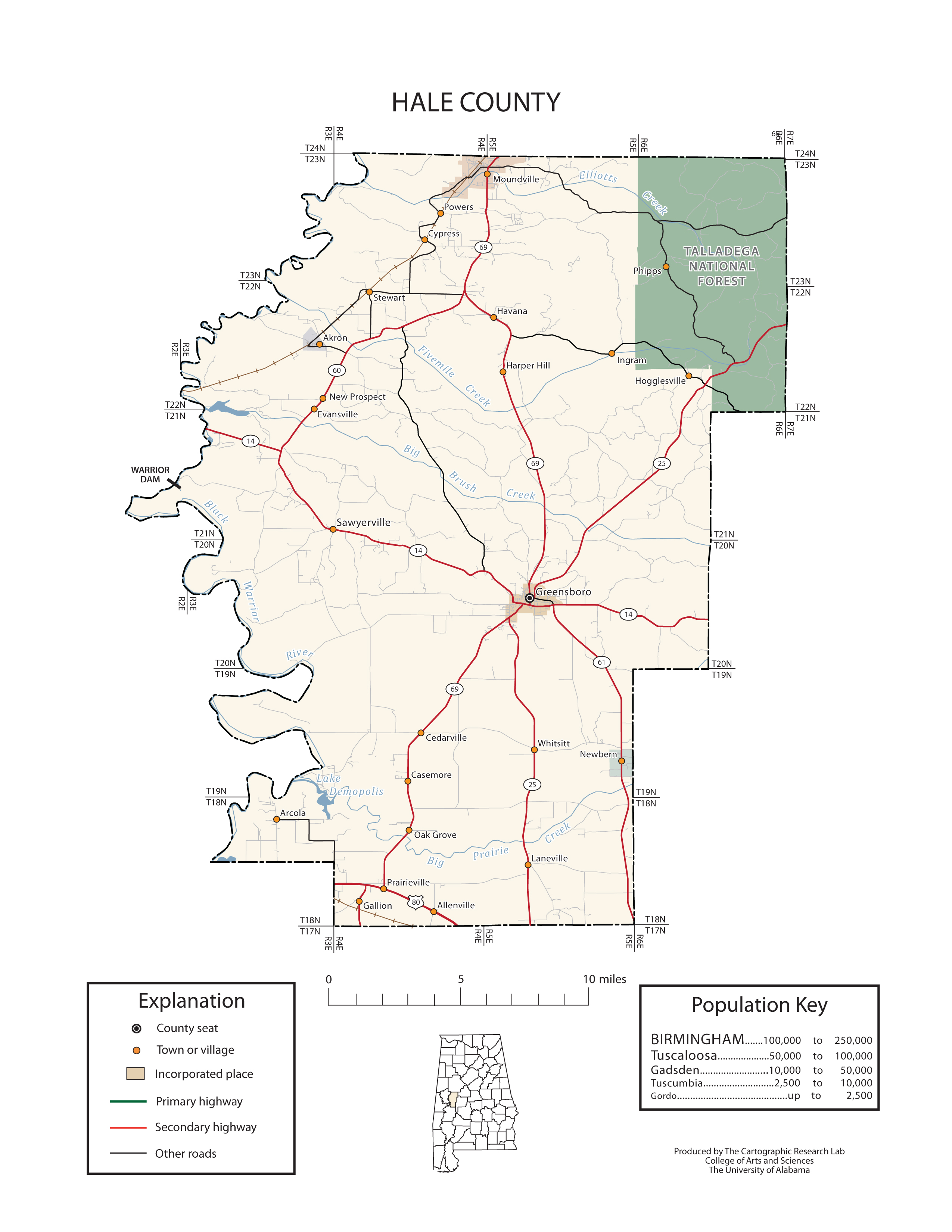 Maps of Hale County