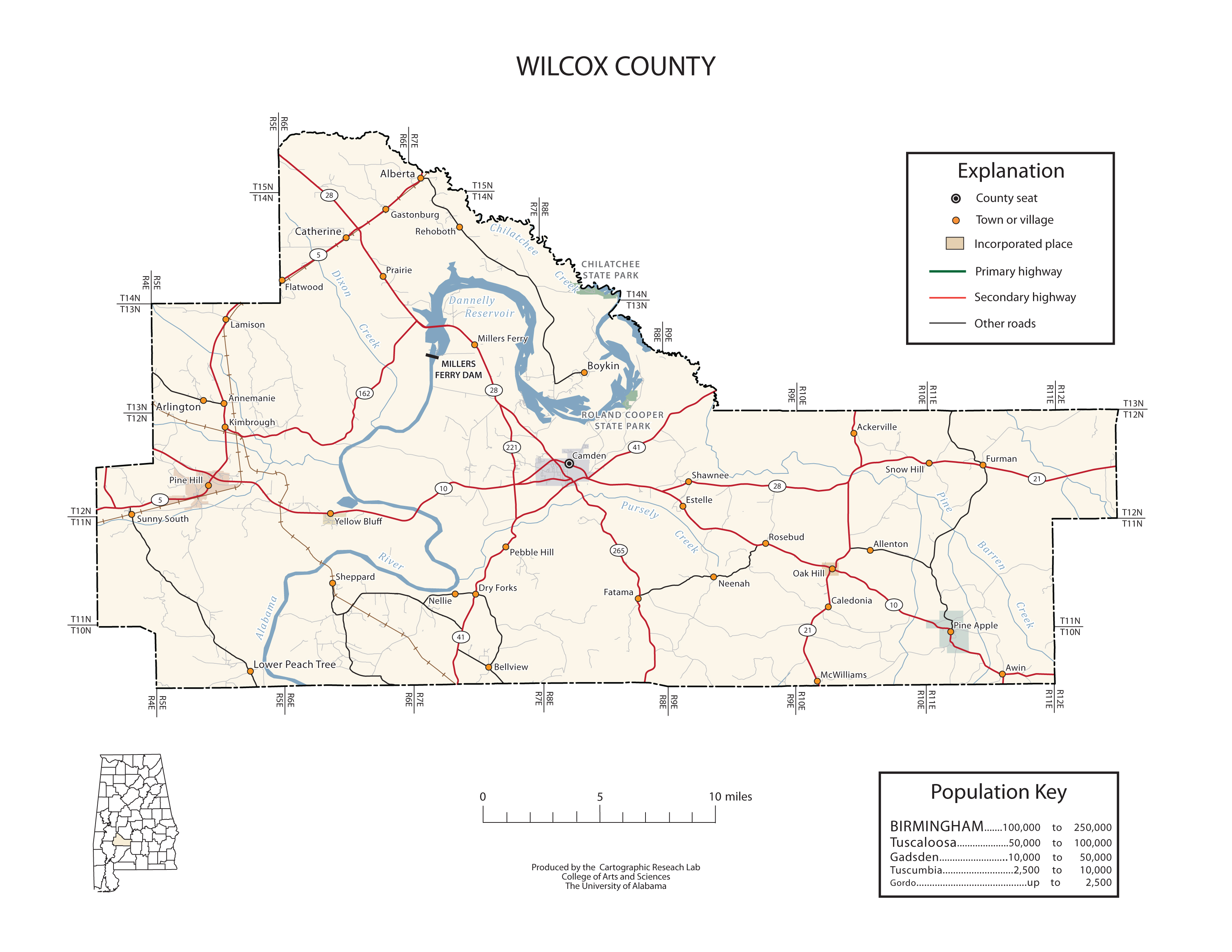 Maps of Wilcox County
