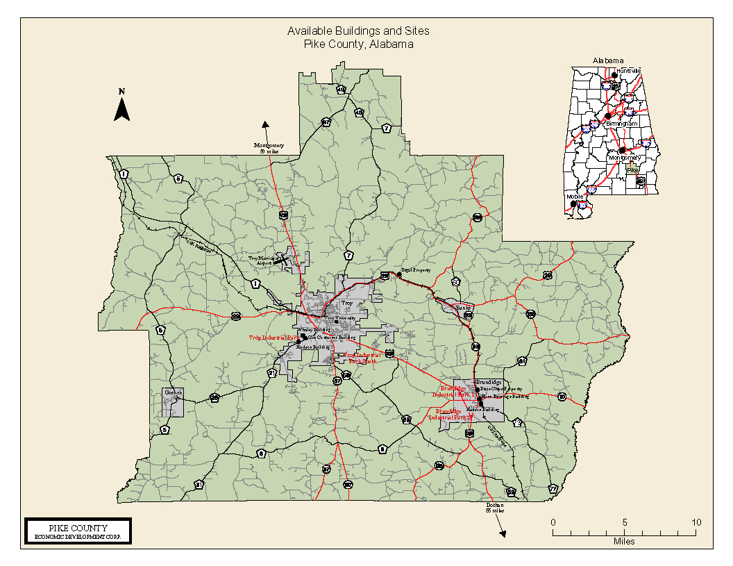Maps Of Pike County - Alabama road map