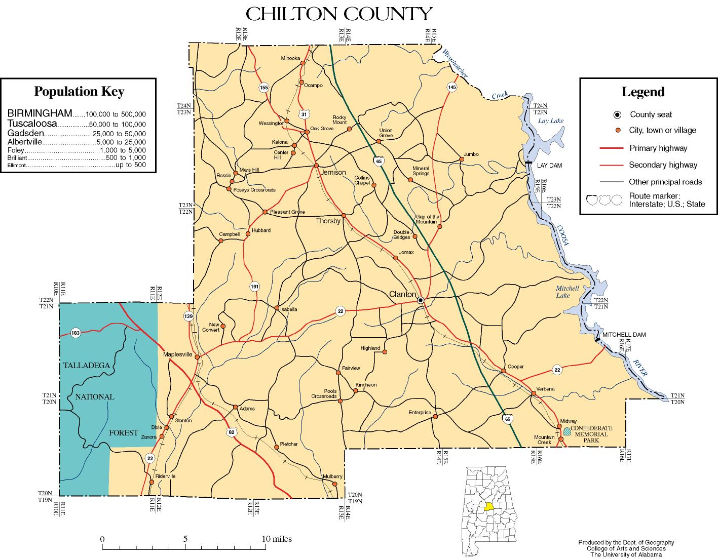 Chilton County, Alabama history, ADAHchilton county