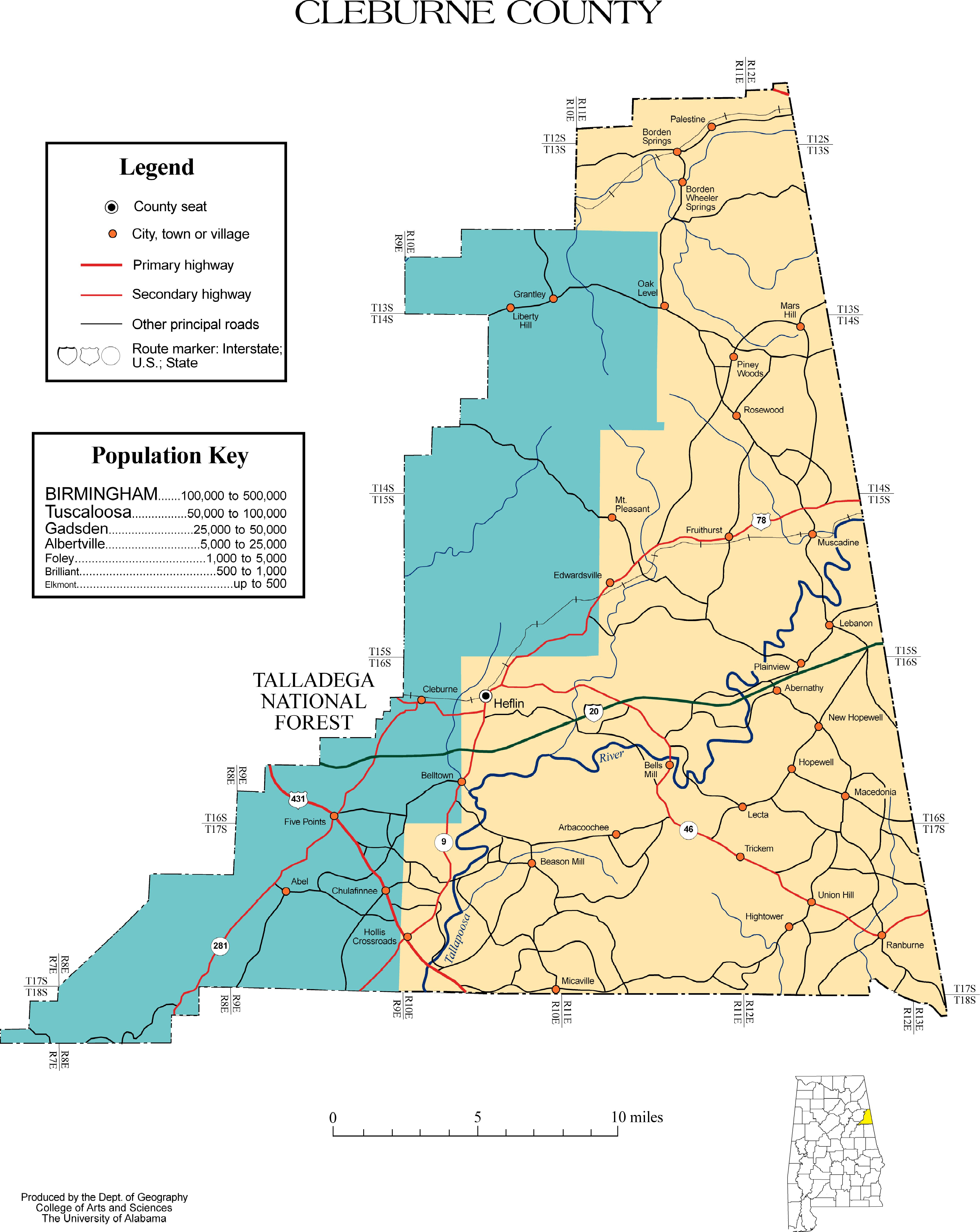 Maps of cleburne county jpeg 193kb sciox Images