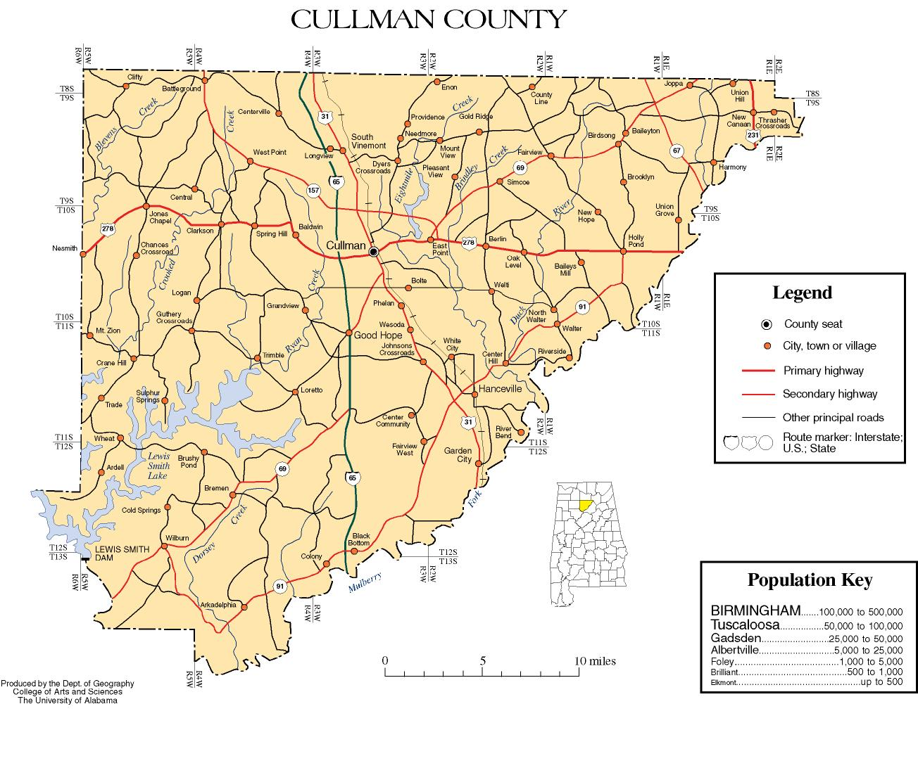 Maps of Cullman Countycullman county