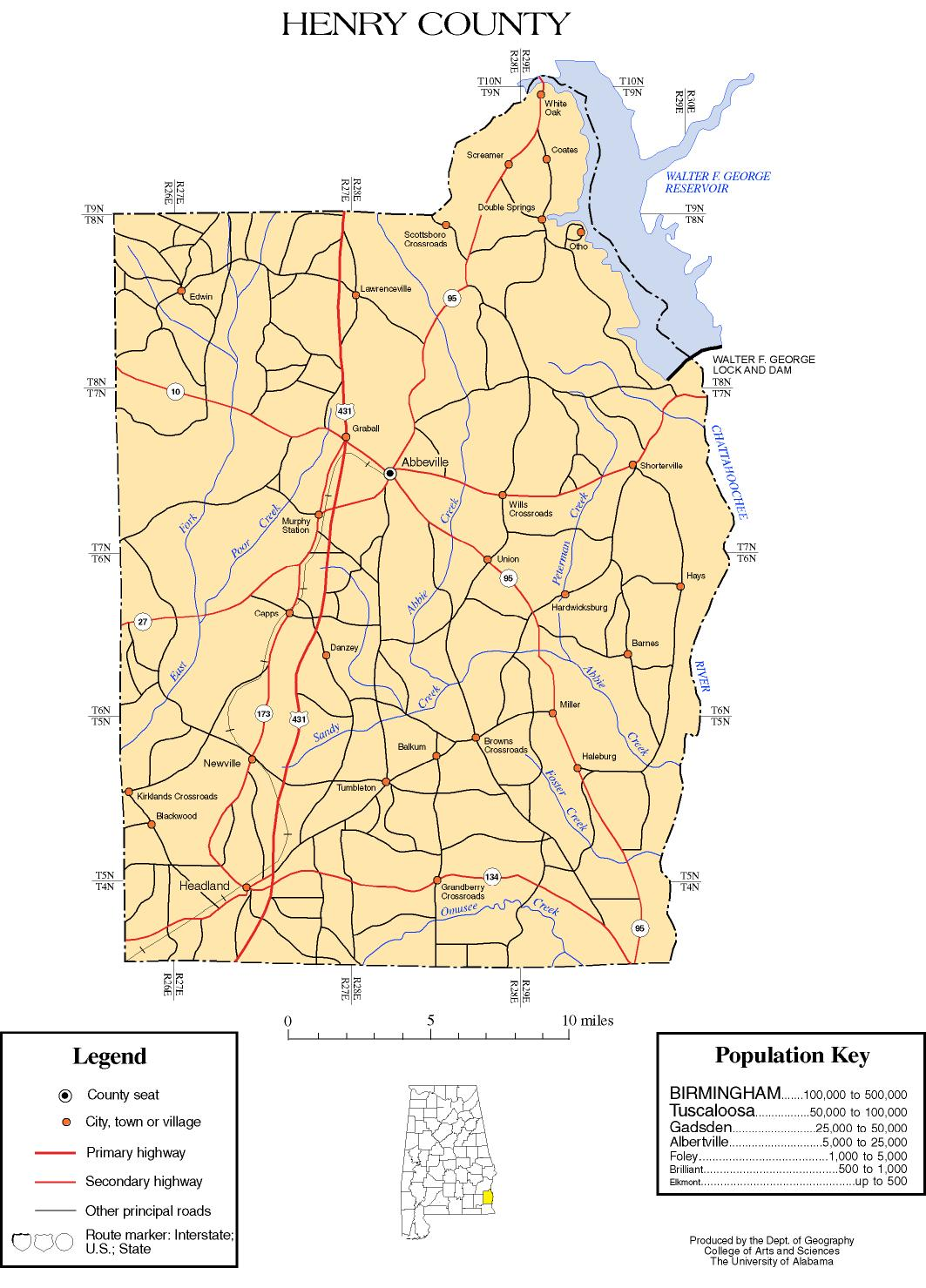 Alabama Counties: Henry Countyhenry county