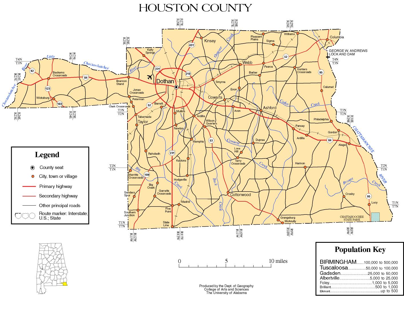 Houston County Alabama history ADAH