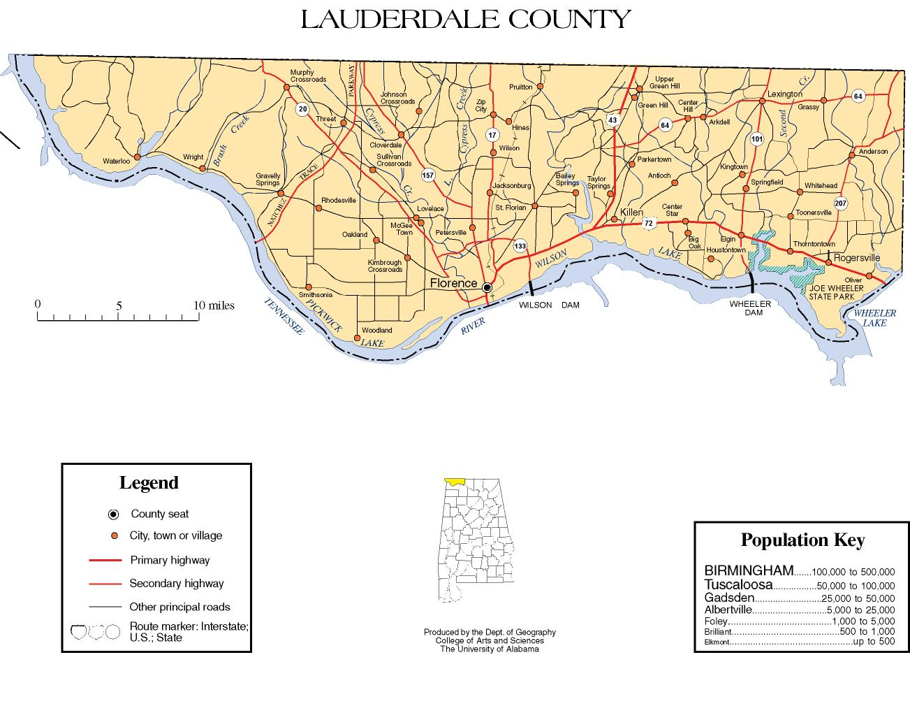Lauderdale County, Alabama history, ADAHlauderdale county