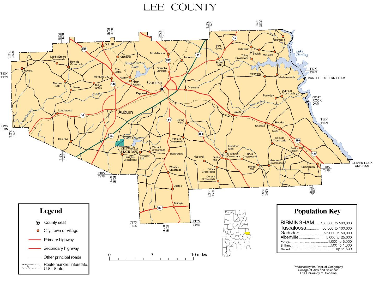 Lee County Maps Lee County, Alabama history, ADAH Lee County Maps