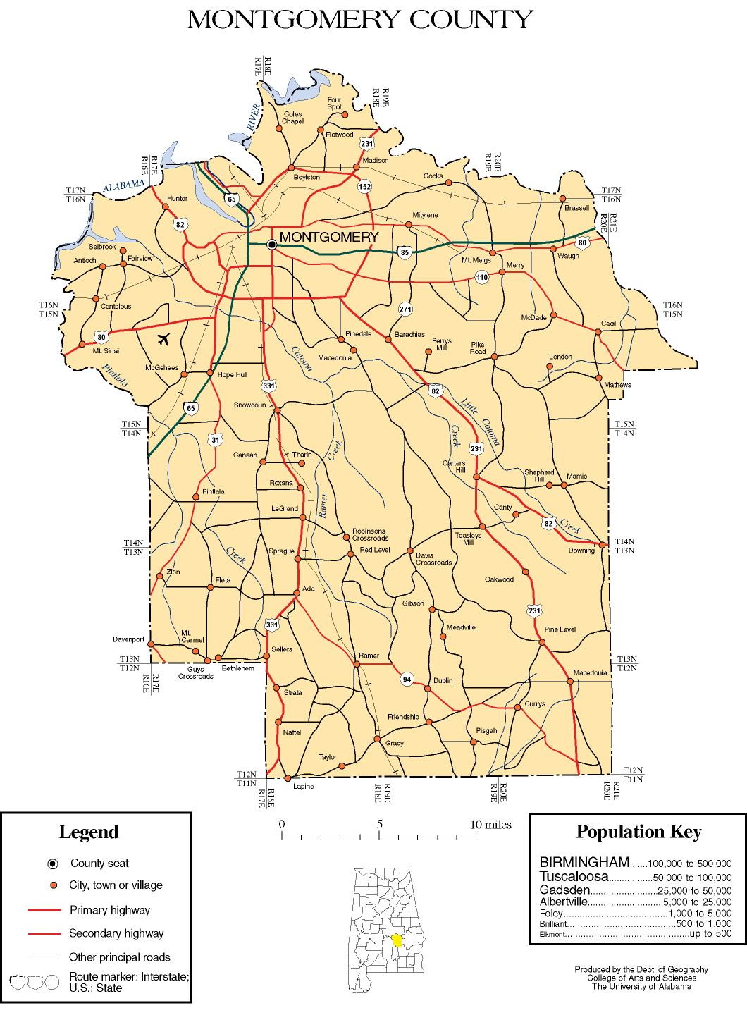 Montgomery Al Map Montgomery County, Alabama history, ADAH Montgomery Al Map