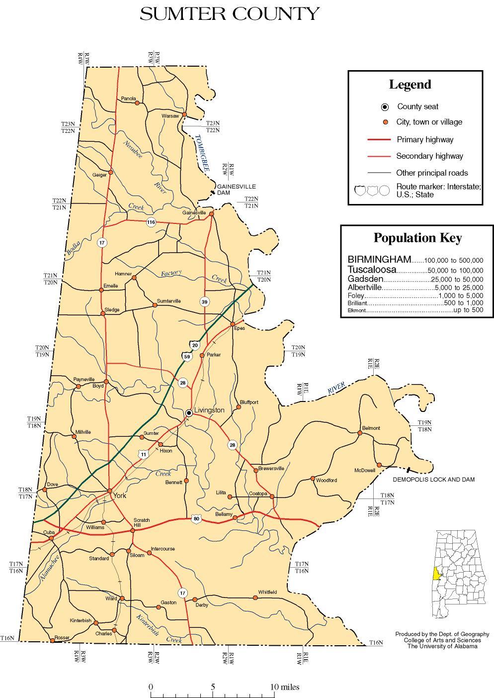 Sumter County, Alabama history, ADAH