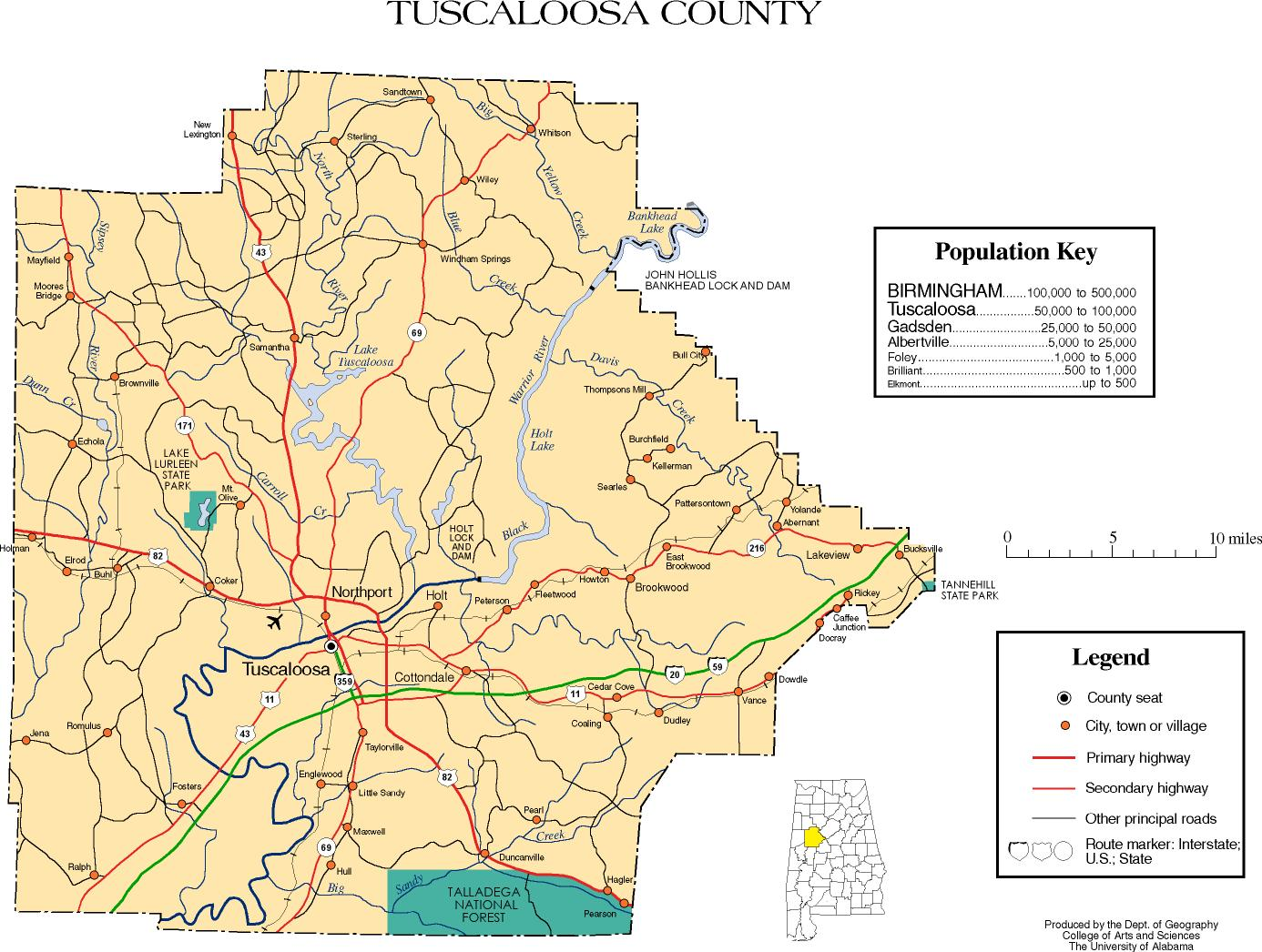 Tuscaloosa County Alabama Map The Full Wiki
