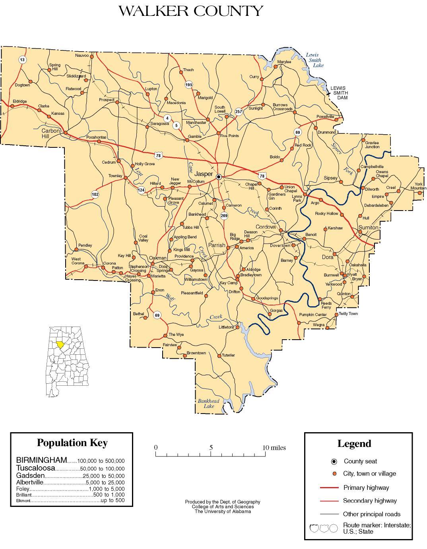 Walker County Maps Maps of Walker County