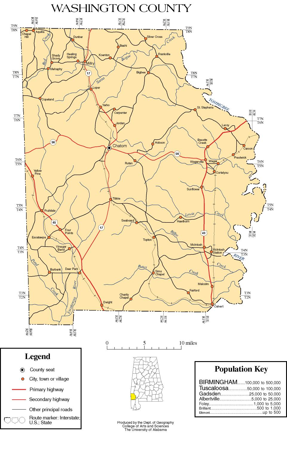 Maps Of Washington County - Washington counties map