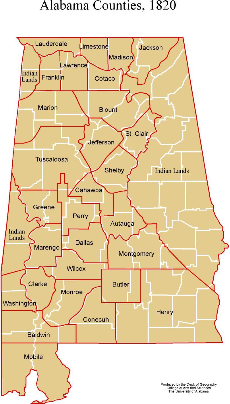 Alabama Maps Historic