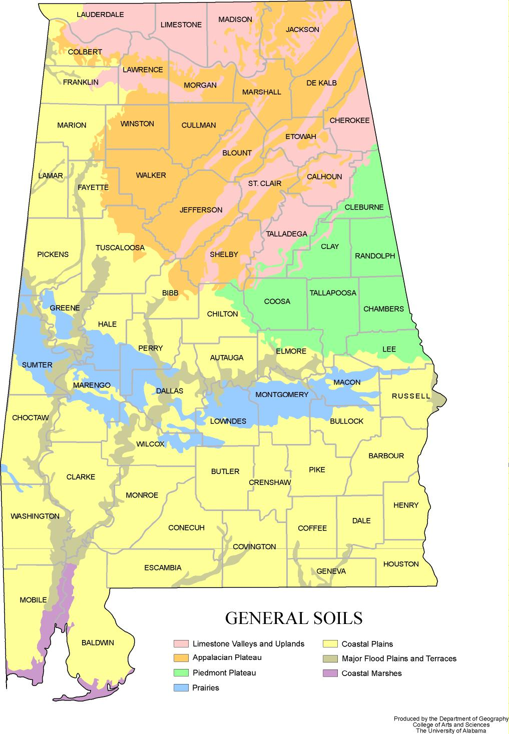 Alabama Outline Maps And Map Links - Us map with geographical features