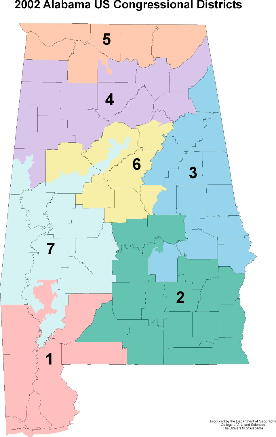 alabama us congressional districts. alabama maps  politics