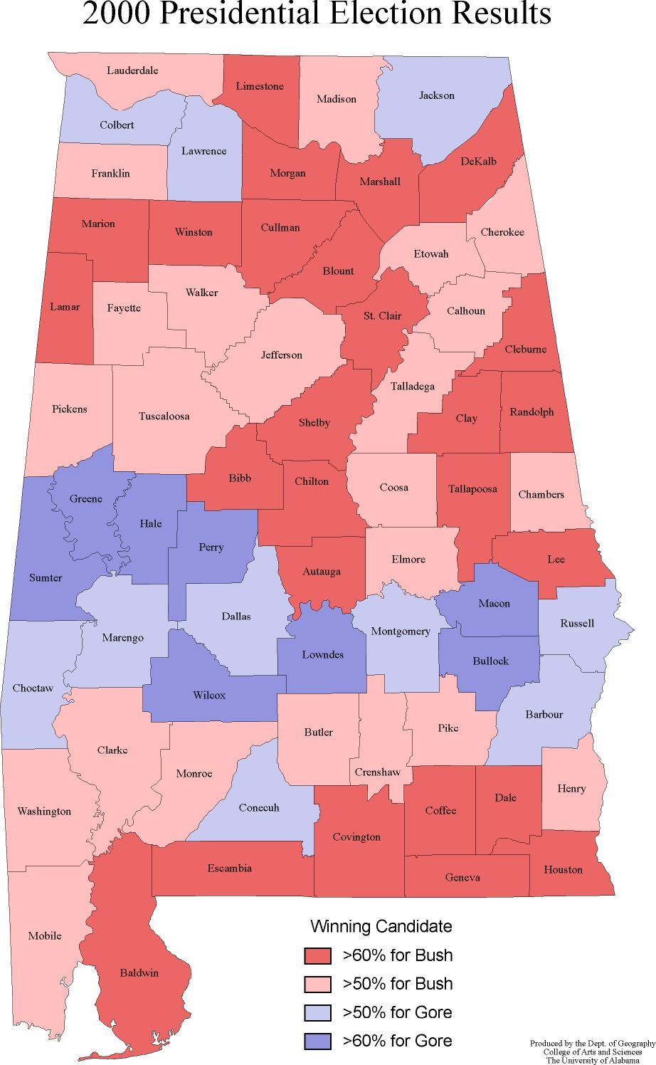 Alabama 2016 Election Political Maps  Download PDF