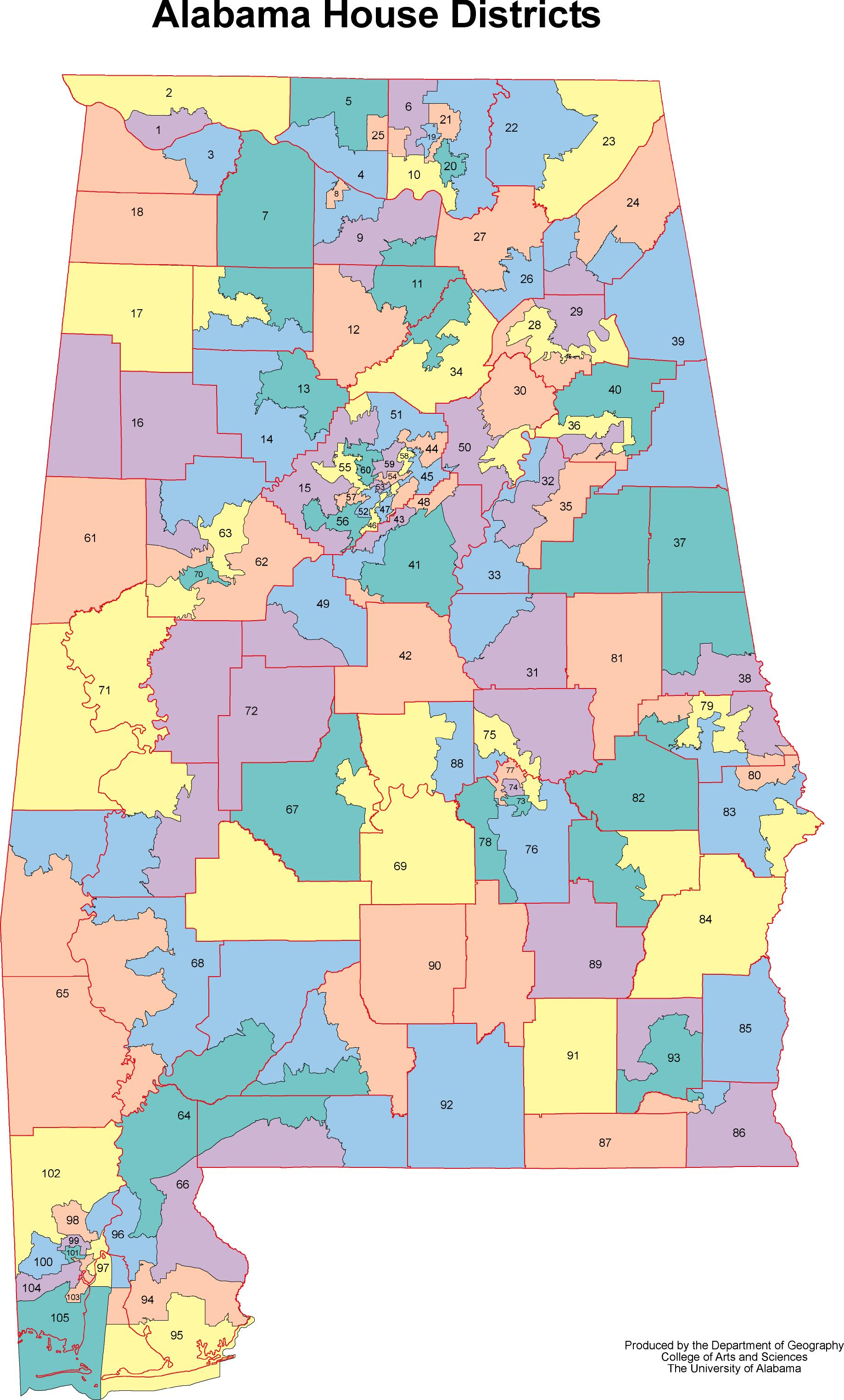 Alabama Outline Maps And Map Links - District map of texas for us house of representatives