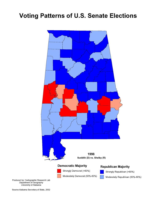 Alabama Maps  Politics