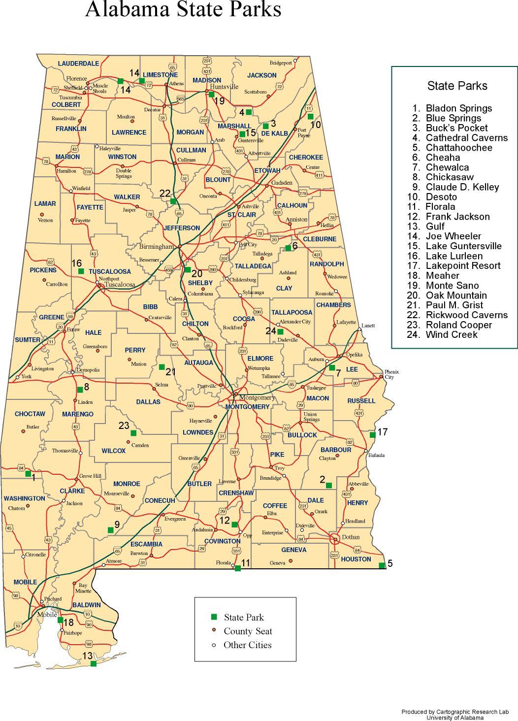 Alabama State Map Alabama Outline Maps and Map Links Alabama State Map