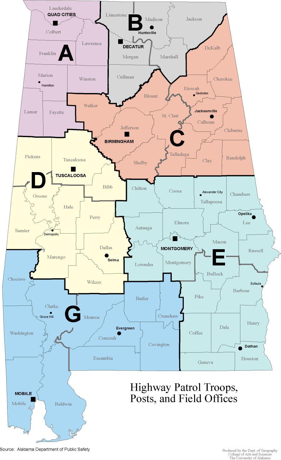 Alabama Maps Transportation - Alabama highway map
