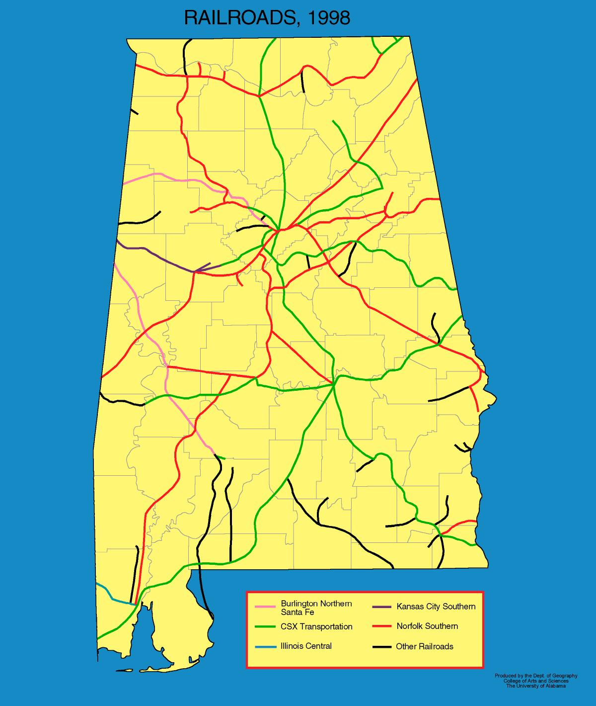 Alabama Maps Transportation - Maps of alabama