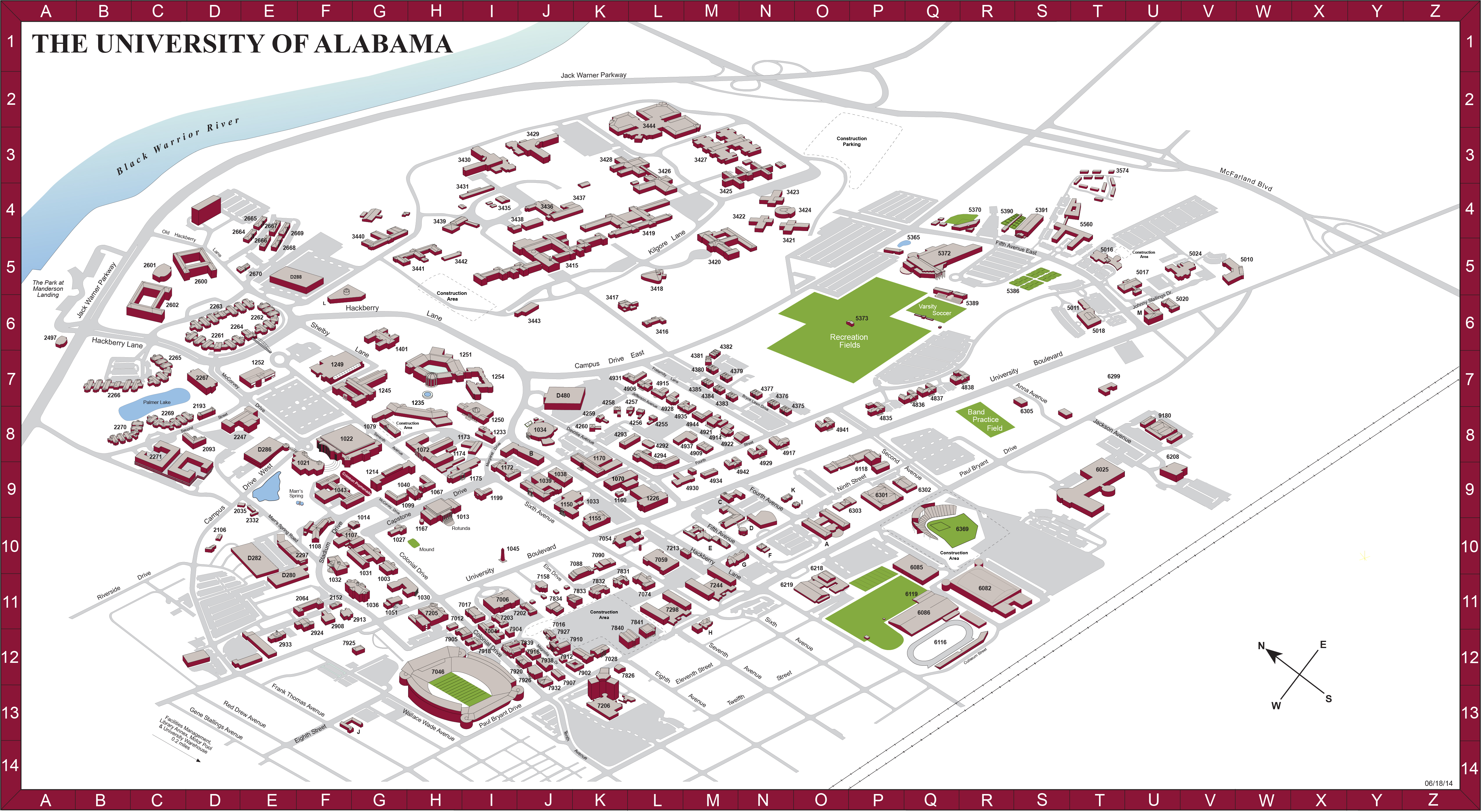 Smu Campus Map Detailed Map Of The United States