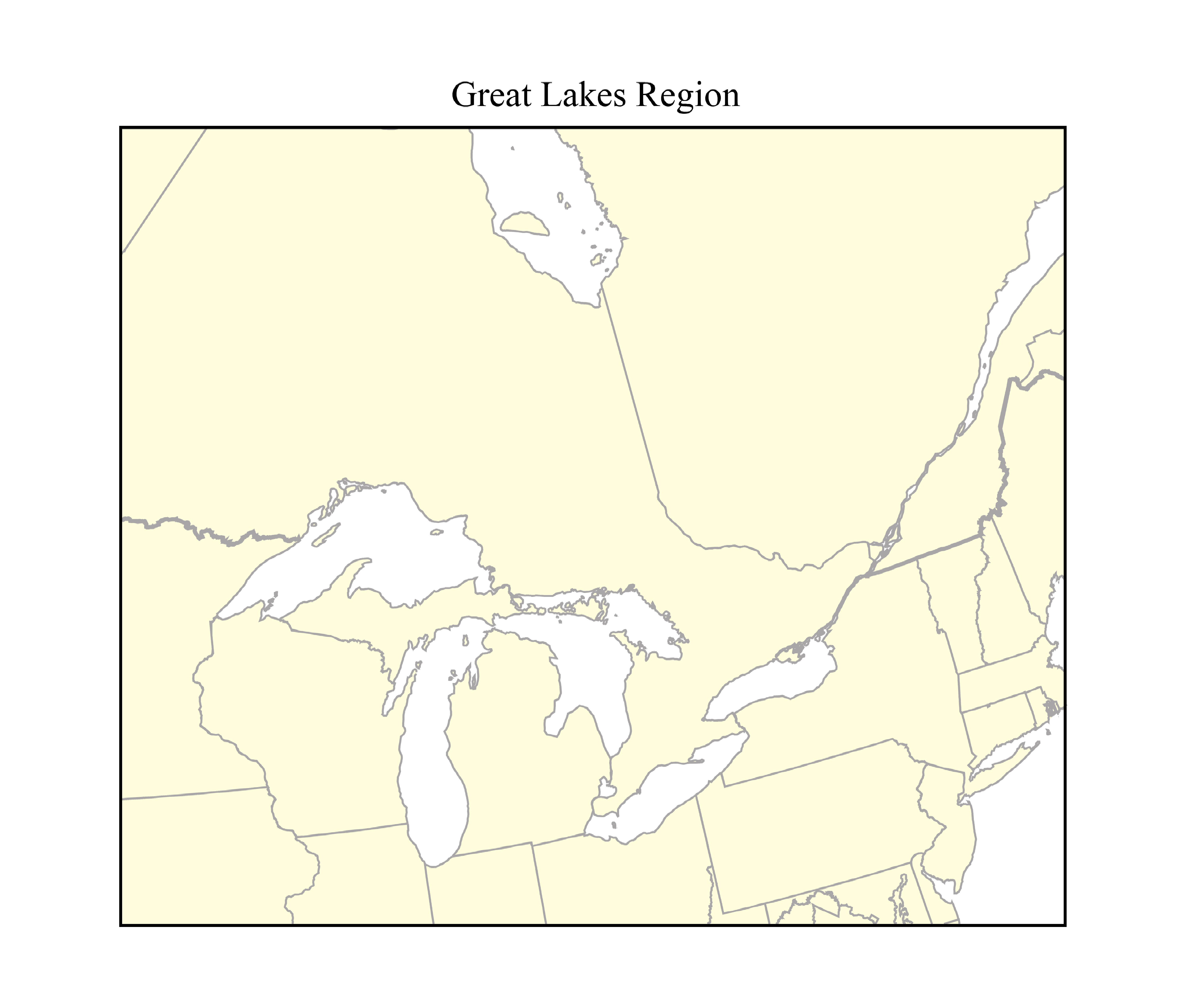 Great Lakes Map Outline Map of The Great Lakes