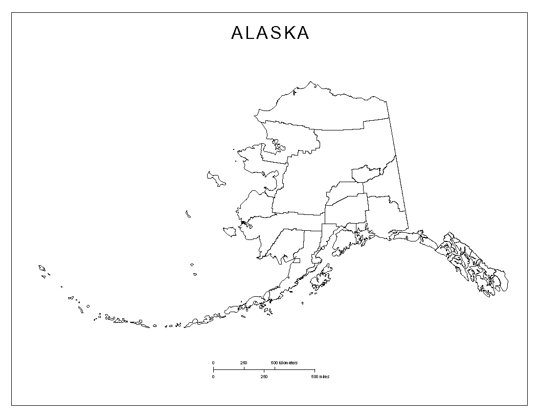 Maps Of Alaska - Alaska county map