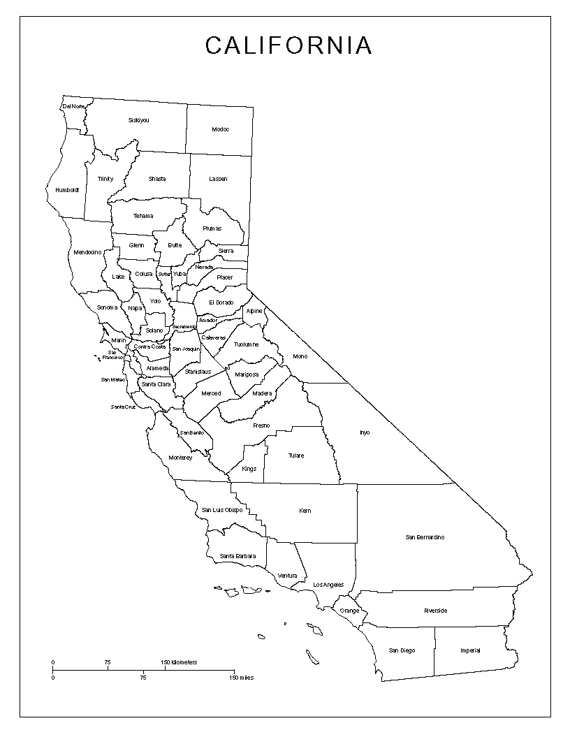 Amazing image within printable california map
