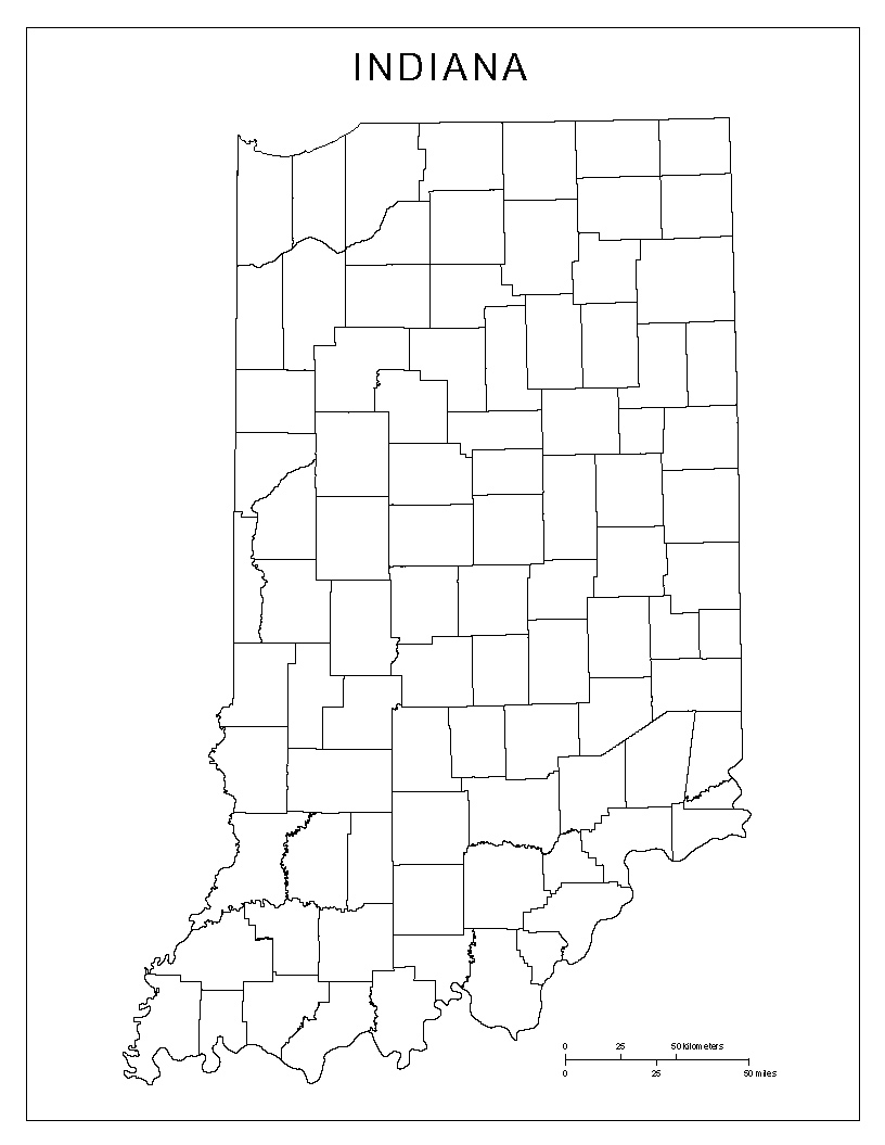 Maps Of Indiana - Map of state of indiana