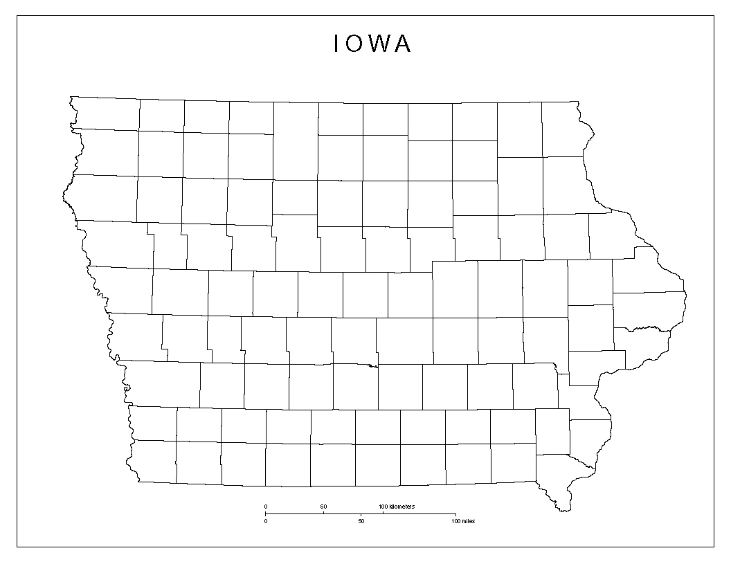 Maps Of Iowa - Iowa county map