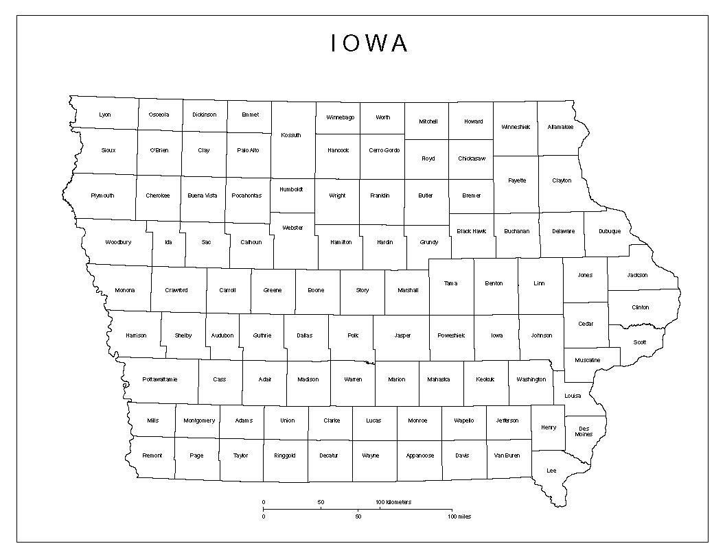 Maps Of Iowa - Iowa maps