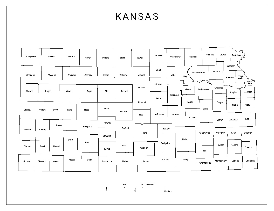 Clean image within kansas county map printable