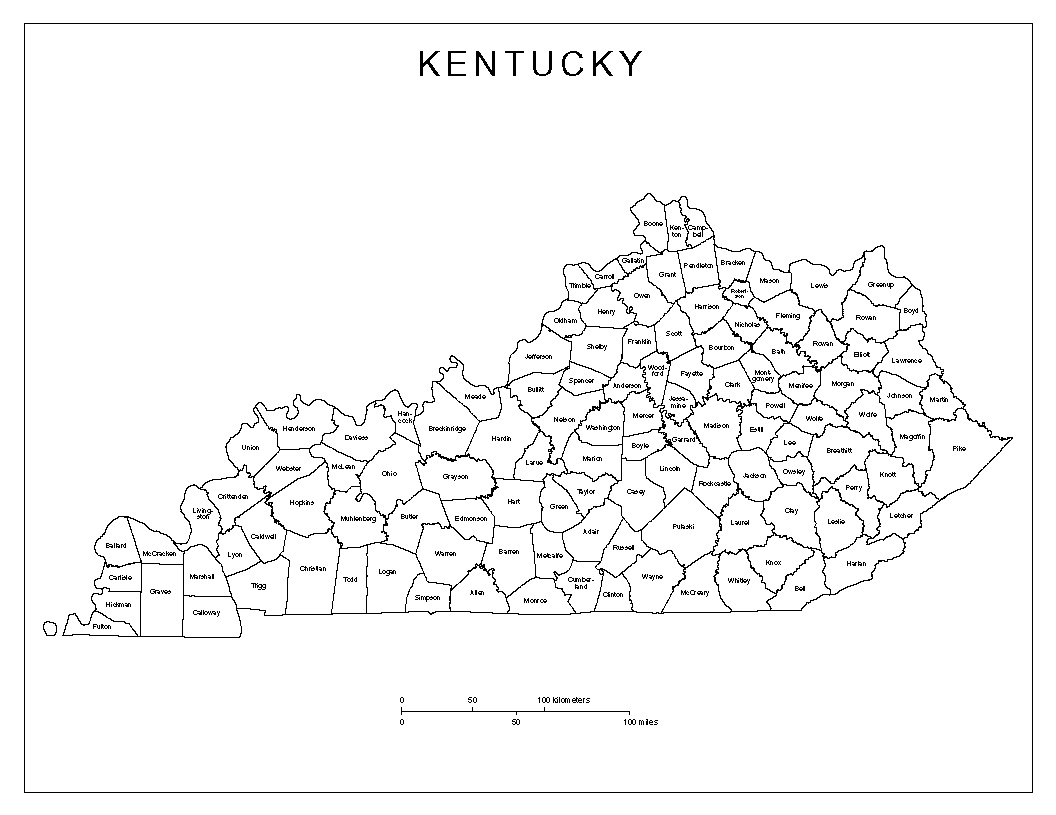 Maps Of Kentucky - County map of kentucky