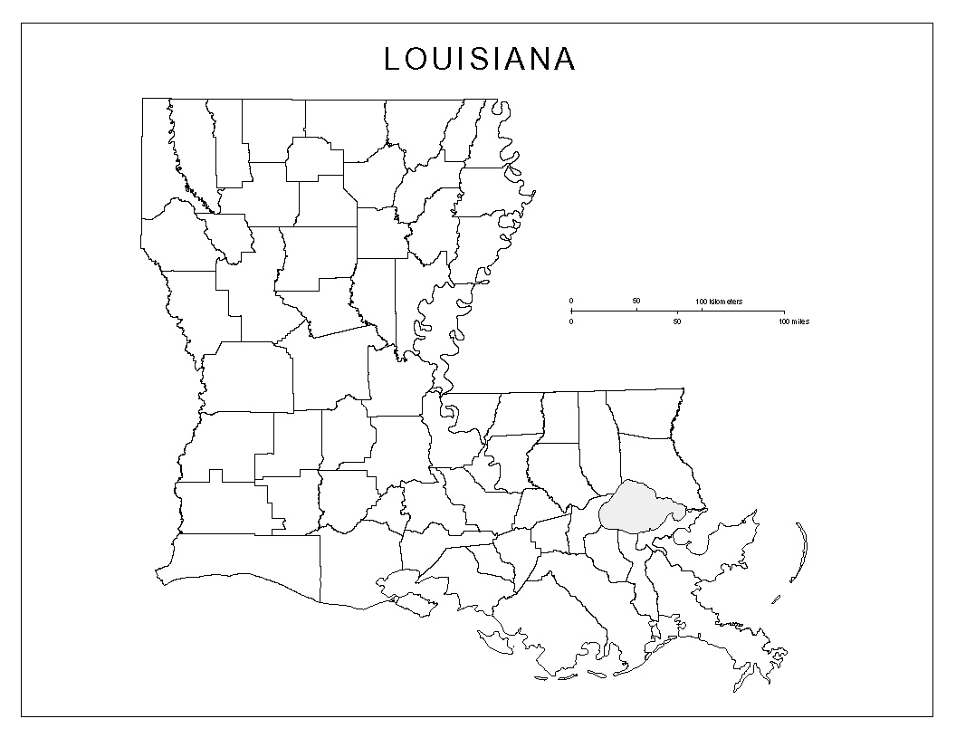 Maps of Louisiana