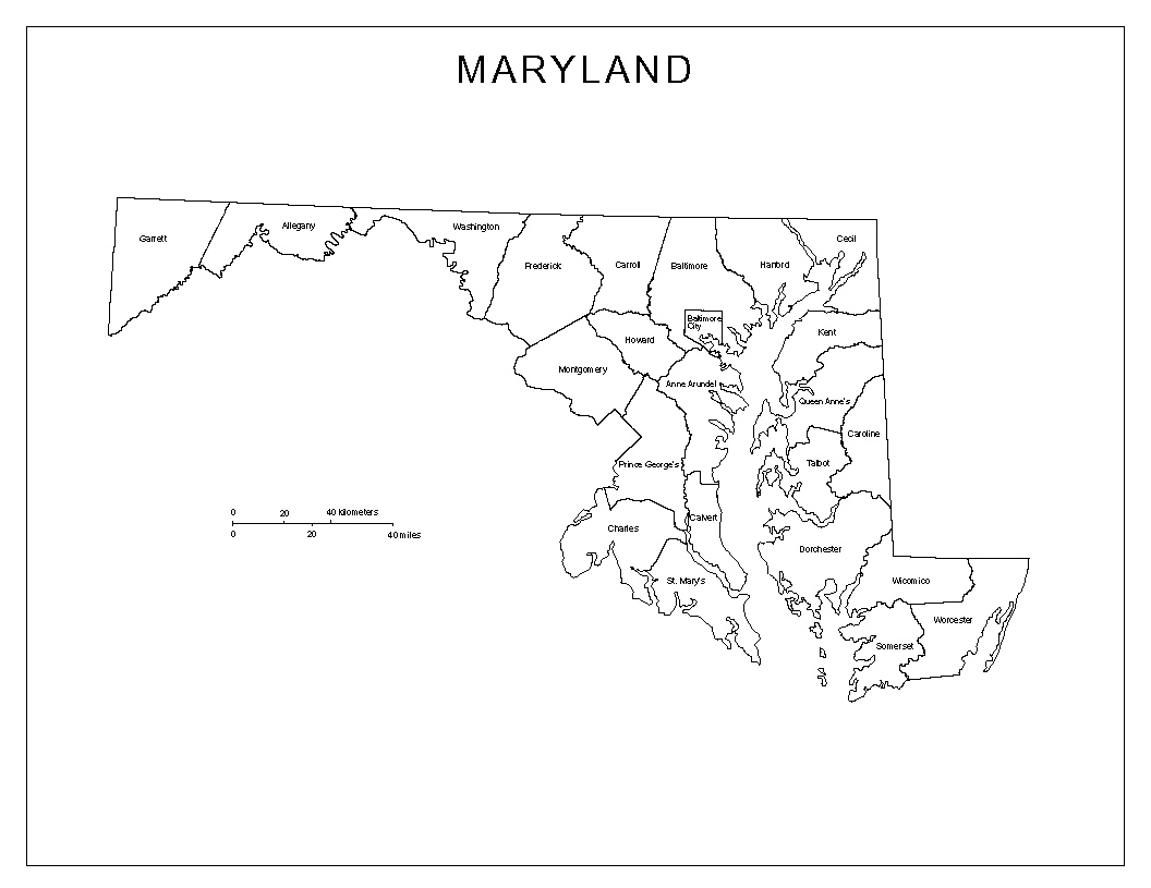 Maps Of Maryland - Maryland printable map