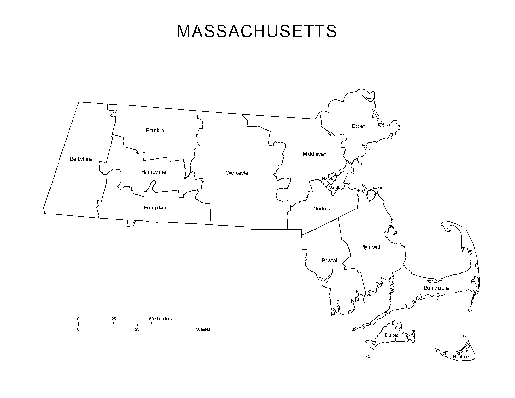 Maps Of Massachusetts - Map of massachussets