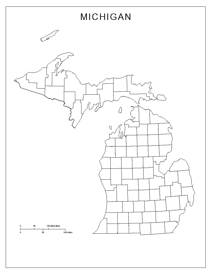 Maps Of Michigan - Michigan map of counties