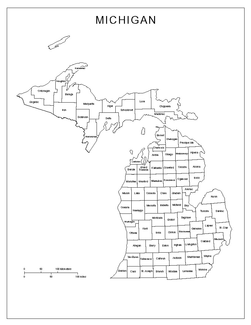 Maps Of Michigan - Michigan county map