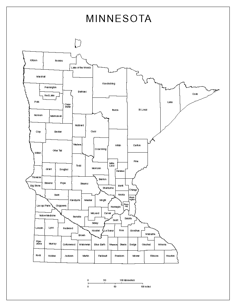 Maps Of Minnesota - County maps of minnesota