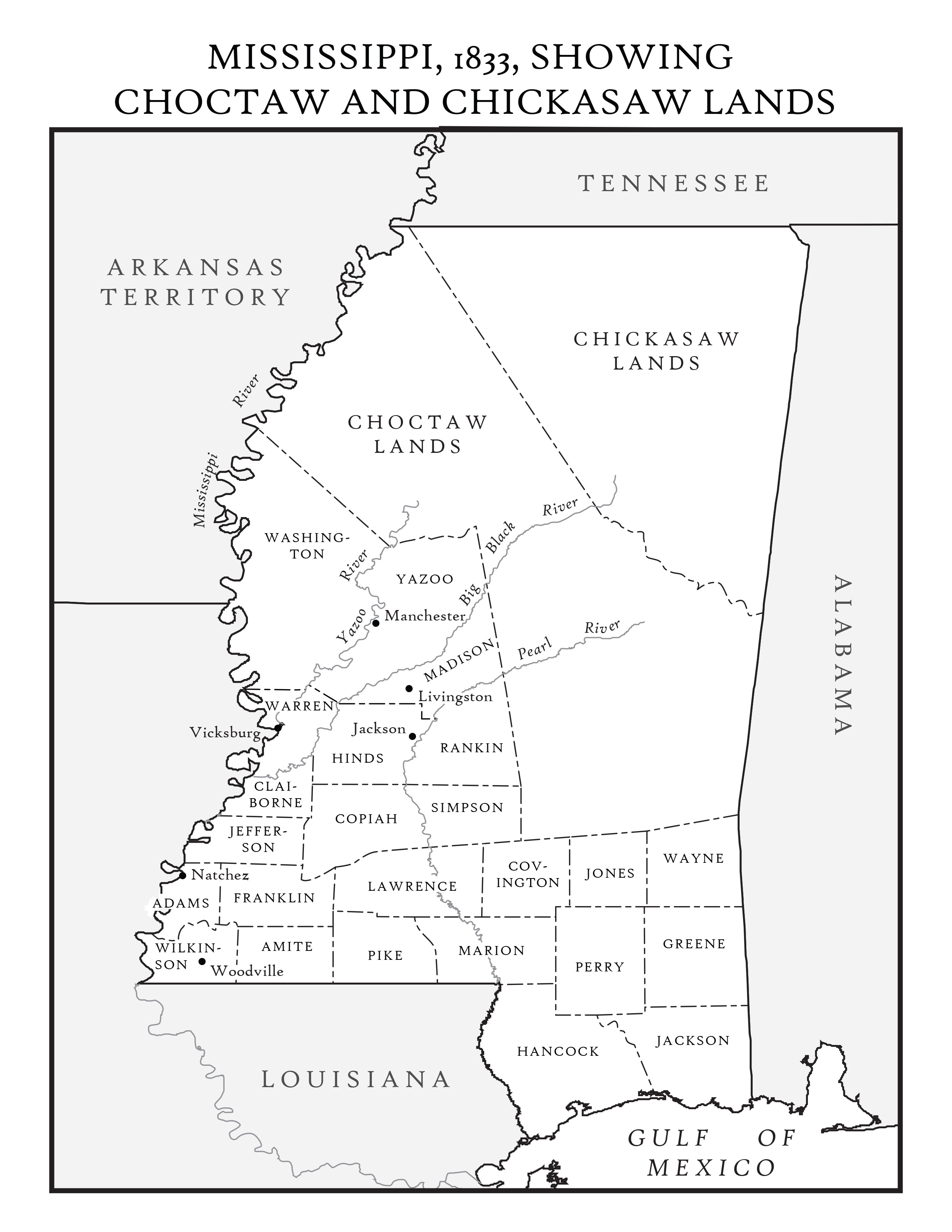 US CONFEDERATE STATES 1862 MS MAP CHICKASAW CHOCTAW CLAIBORNE COUNTY history BIG