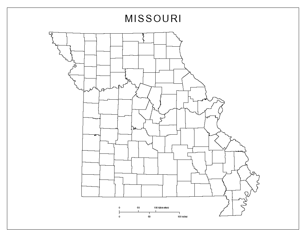 Maps Of Missouri - Map of state of missouri
