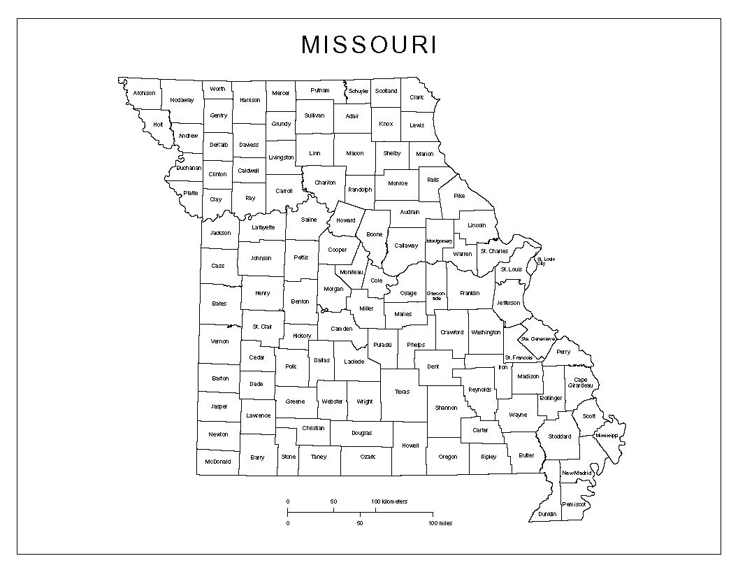 Maps Of Missouri - Missouri county map