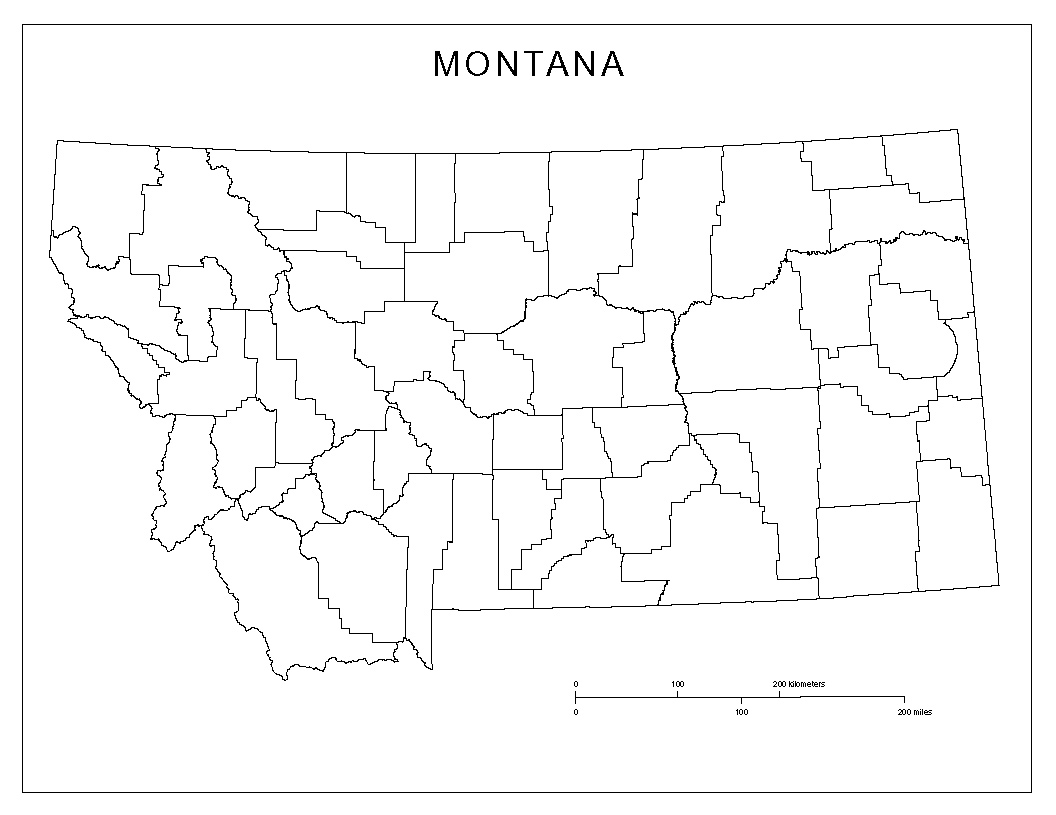 Montana County Map Minecraft Notch Land Map Mapsgooglemaps - Montana blank physical map