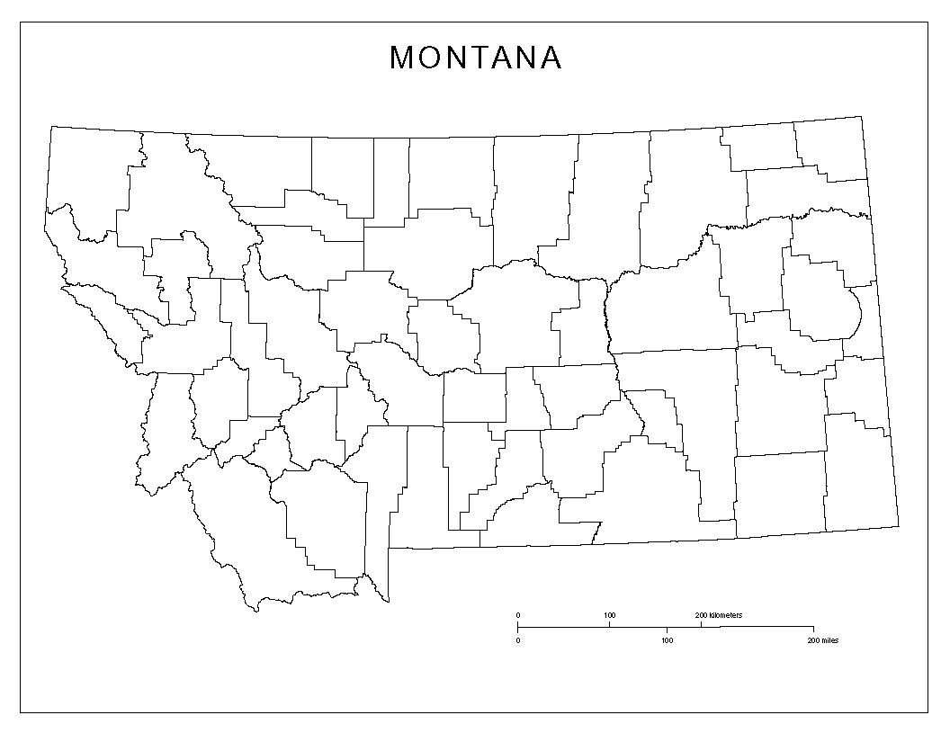Maps Of Montana - Montana county map