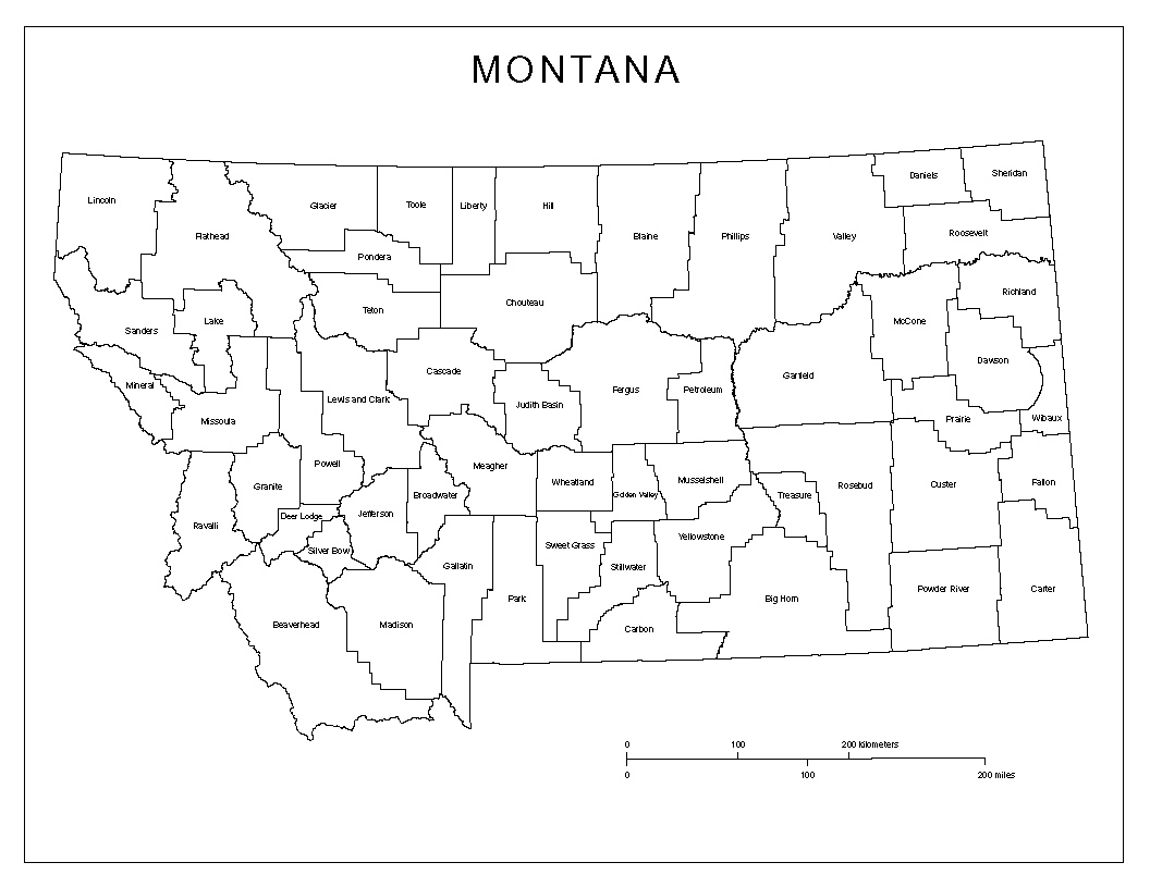 Maps Of Montana - Montana map with cities