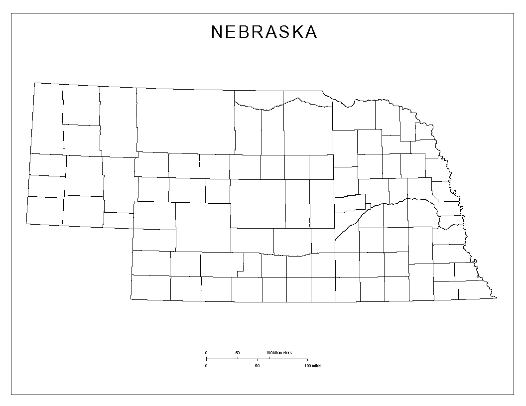 Maps Of Nebraska - State map of nebraska