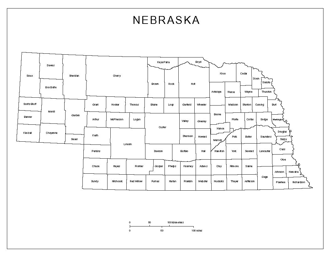maps of nebraska