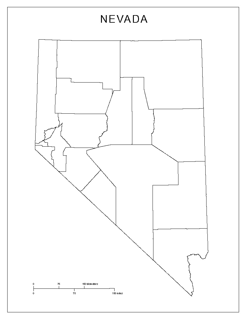 Maps Of Nevada - Map of nevada counties